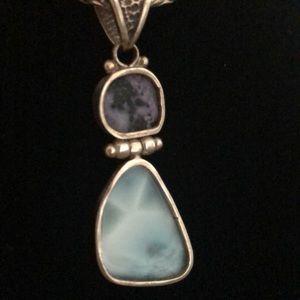Silver and Precious Stone Pendant